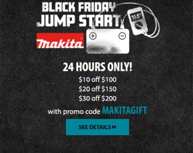 Makita Coupon Deal of the Day 11-19-2020