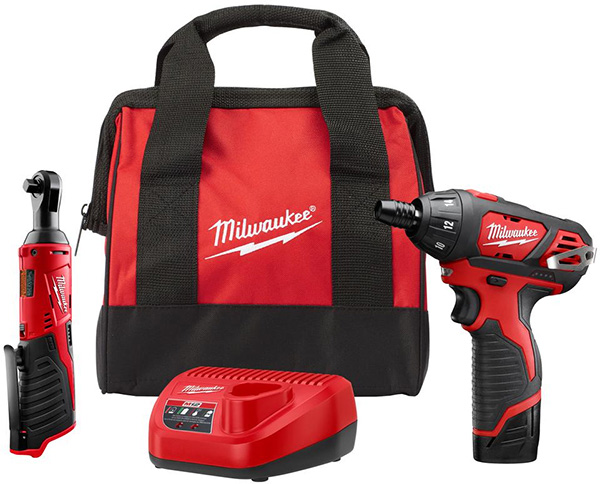 Milwaukee 2401-21R M12 Cordless Screwdriver and Ratchet Kit
