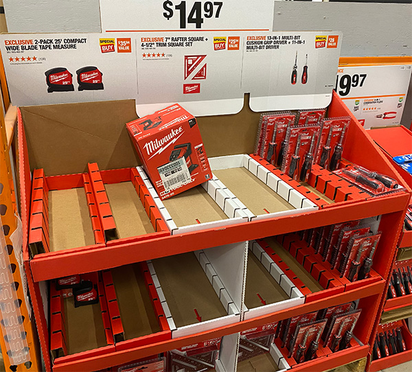 Milwaukee 48-22-0425 Compact Tape Measure 25-Foot 2-Pack Empty Display at Second Store
