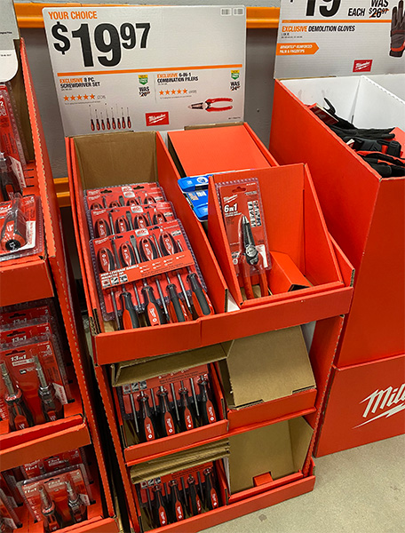 Milwaukee 6-in-1 Electrical Pliers 48-22-3079 Store Display