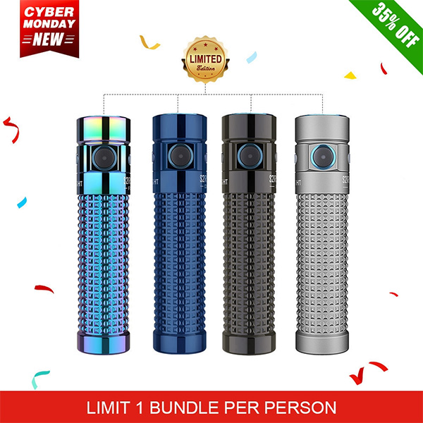 Olight Cyber Monday 2020 S2R Baton II LED Flashlight Titanium Bodies