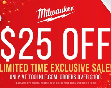 Tool Nut Milwaukee Tool 25 off 100 Coupon 11-17-2020