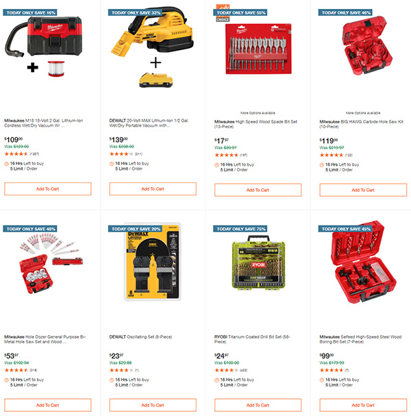 Home Depot Milwaukee Ryobi Tool Deals of the Day 12-7-2020 Page 10