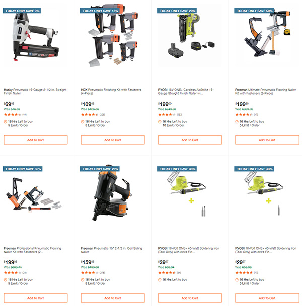 Home Depot Milwaukee Ryobi Tool Deals of the Day 12-7-2020 Page 4