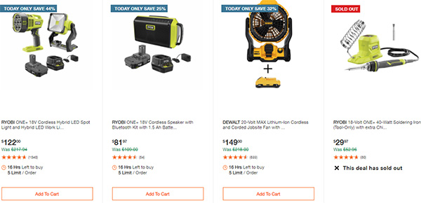 Home Depot Milwaukee Ryobi Tool Deals of the Day 12-7-2020 Page 7