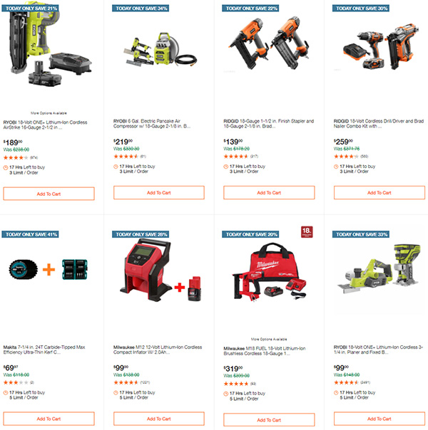 Home Depot Tool Deals of the Day 12-14-2020 Page 4