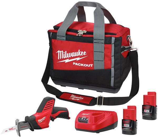Milwaukee 2420-2411 M12 Cordless Hackzall Reciprocating Saw Bundle Deal