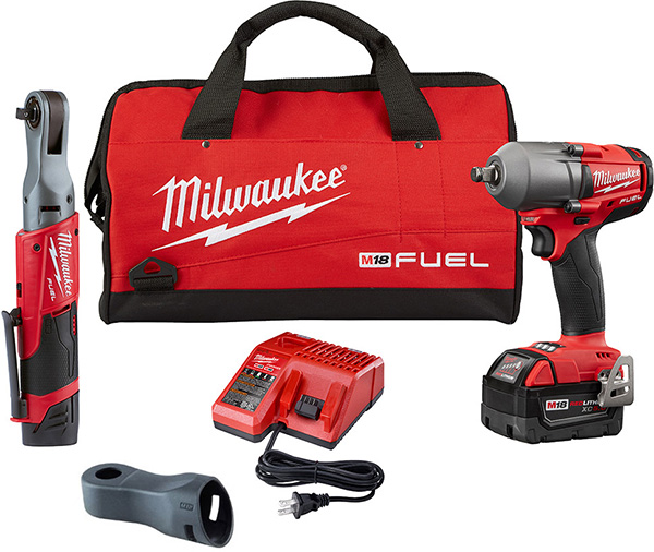 Milwaukee 2591-22 M18 Fuel and M12 Fuel Impact and Ratchet Fastening Tool Kit
