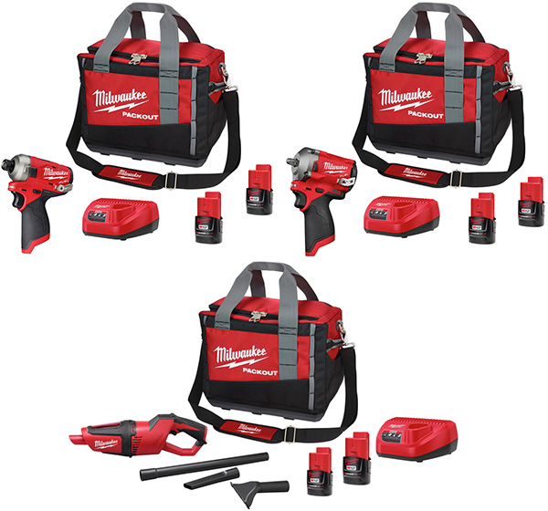 Milwaukee M12 Cordless Power Tool and Packout Tool Bag Promos at CPO 12-5-2020