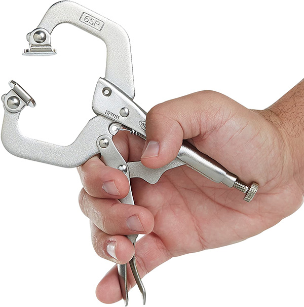 Vise-Grips LockingC-Clamp Swivel Grip Pliers 6-inch Hand Scale