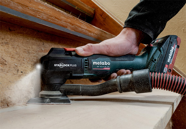 Metabo MT 18 LTX BL QSL Cordless Oscillating Multi-Tool with Accessories