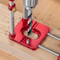 Woodpeckers Auto-Line Drill Guide in Use on Wood Board