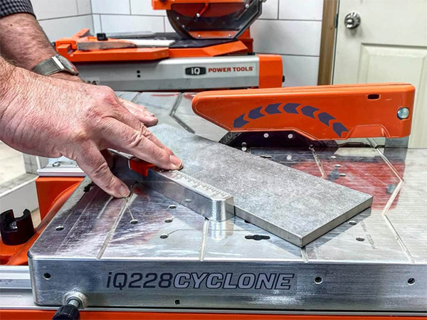 iQ228 Cyclone Dry Cutting Table Top Tile Saw Cutting Tile