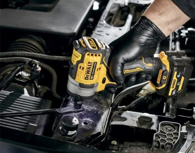 Dewalt Xtreme 12V Max Brushless Impact Wrench Used in Engine Bay