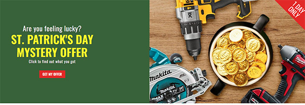 CPO Tools St Patricks Day Tool Deals 3-17-2021