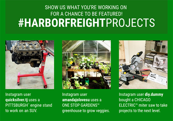 Harbor Freight Projects Newsletter Image 3-2021
