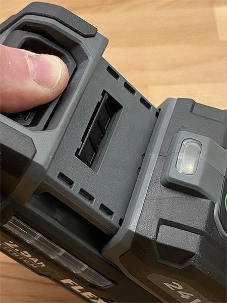 Flex 24V Max Cordless Drill Battery Slide Lock