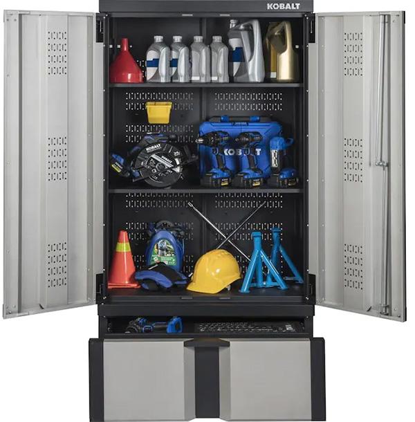 Kobalt Garage Cabinet 2021 Inner Shelves