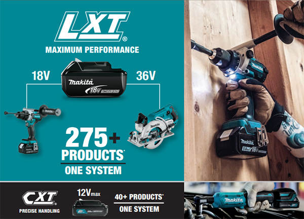 Makita 18V LXT Product Lineup 2021