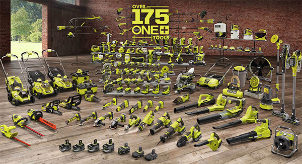 Ryobvi 18V One Plus Cordless Power Tool System as of April 2021