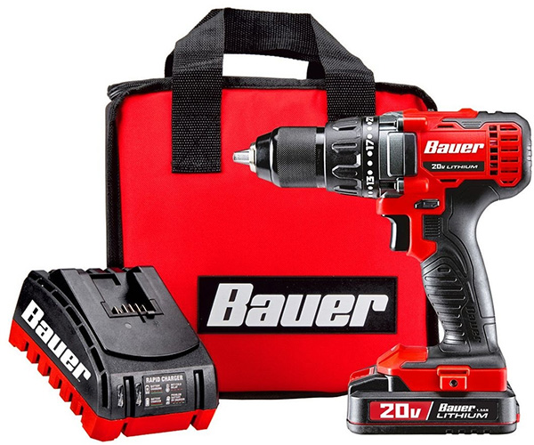 Bauer 20V Max Hypermax Cordless Drill Kit