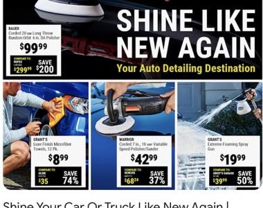 Harbor Freight Automotive Detailing Ad