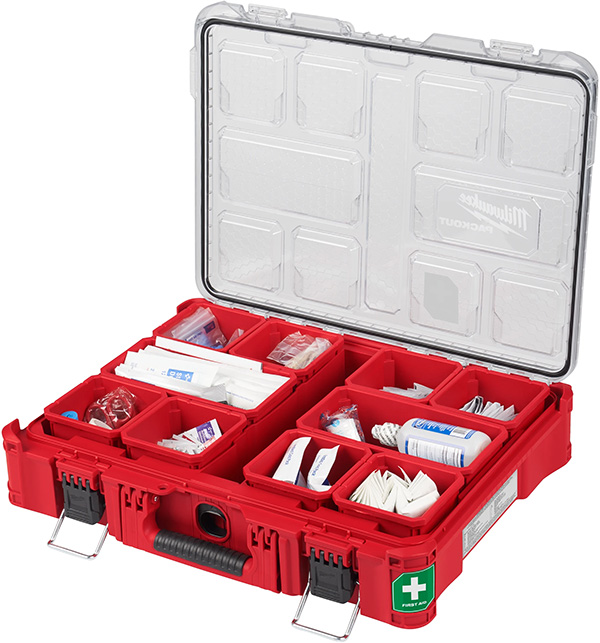 Milwaukee Packout First Aid Kit Large Organizer Open