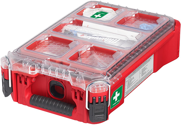 Milwaukee Packout First Aid Kit Small Organizer Clear Lid Closed