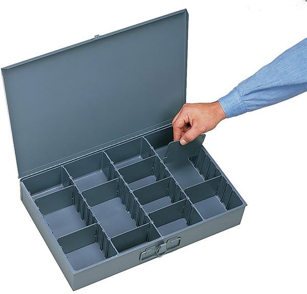 Durham Adjustable Compartment Metal Organizer Box