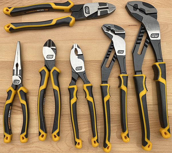 Gearwrech Pitbull Pliers Set 6pc with Dual Material Handles