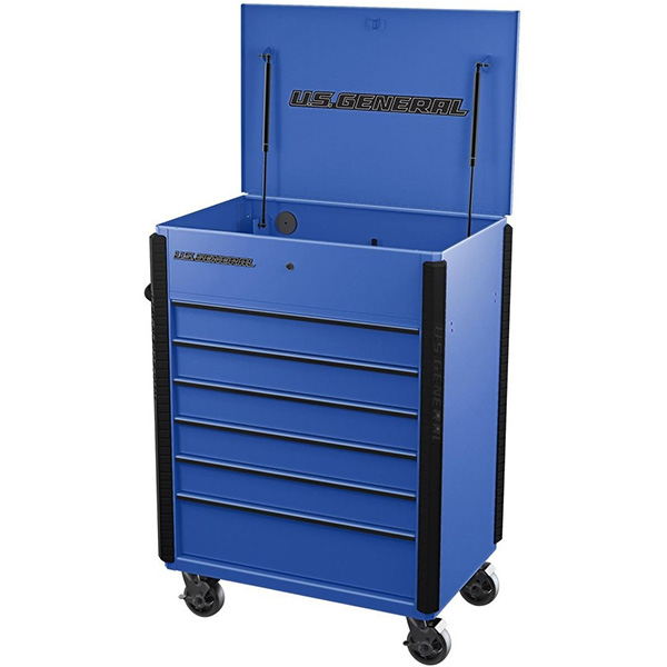 Harbor Freight US General Full Bank Service Cart Blue