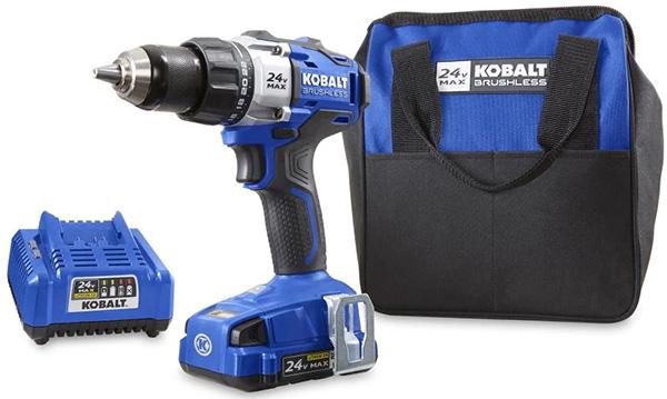 Kobalt 24V Cordless Drill Kit Deal KDD 1424A-03