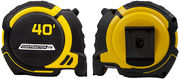 Komelon Contractor TS Tape Measure 40-Foot Back and Front