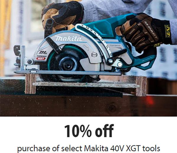 Makita 40V Max XGT Coupon Code