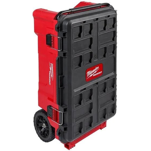 Milwaukee Packout Large Dual Stack Rolling Tool Box 48-22-8428 Standing Up