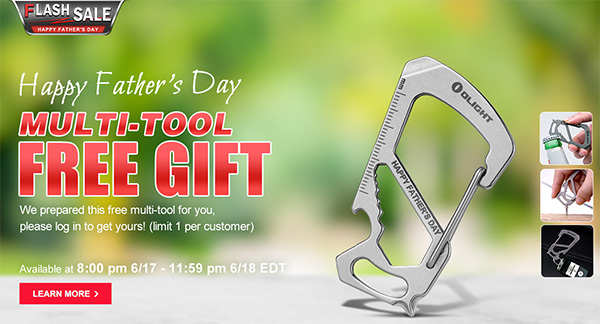 Olight Fathers Day Flash Sale 2021 Multi-Tool Freebie