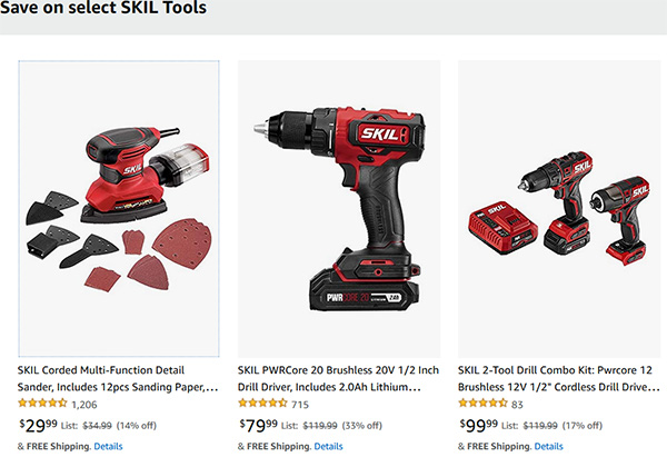 Skil Cordless Power Tool Deals Fathers Day 2021