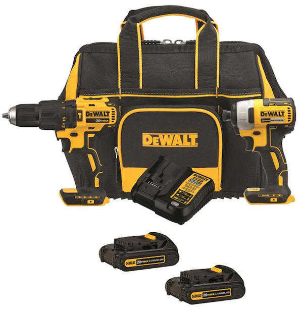Dewalt Compact Brushless Power Tool Combo Kit - Hammer Drill and Impact Driver