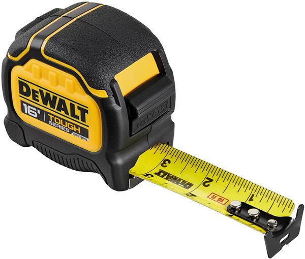 Dewalt Tough Series Tape Measure 16-foot DWHT36916S Plain Hook