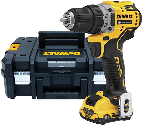 Dewalt Xtreme 12V Max Cordless Drill Kit and Tstak Tool Box DCD701F2DWST17807