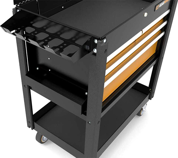 Gearwrench GSX 4-Drawer Tool Cart 83168 Side View