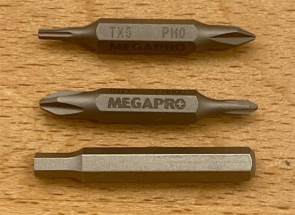Megapro Precision Screwdriver Bit Size Comparison