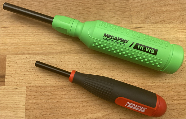 Megapro Precision Screwdriver Compared to Full-Size Tool