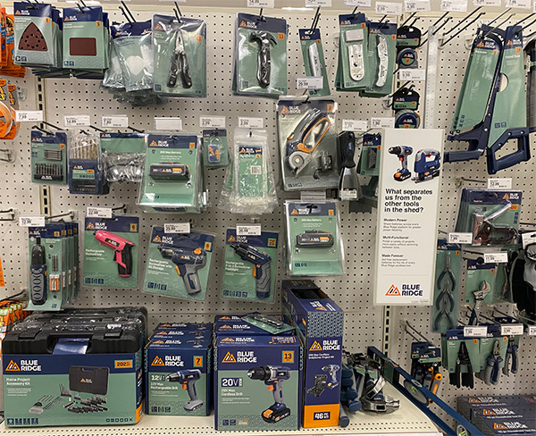 Blue Ridge Tools at Target 2021