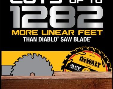 Dewalt Elite Circular Saw Blade vs Diablo More Linear Cutting Banner