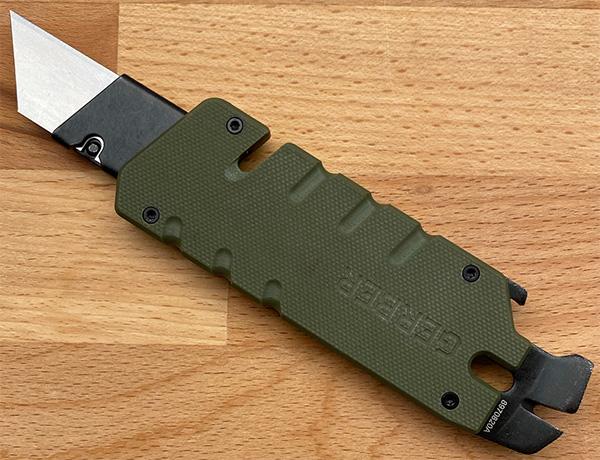 Gerber Prybrid Utility Knife Extended for Blade Change Rear