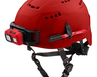 Milwaukee Red Safety Helmet with Tool Attachments