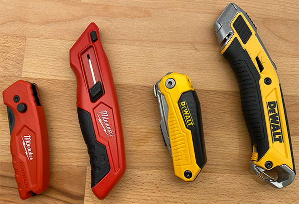Milwaukee and Dewalt Utility Knives at Home Depot 2021