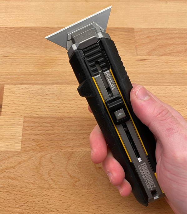 ToughBuilt Scraper Utility Knife Scraping Blade Mode