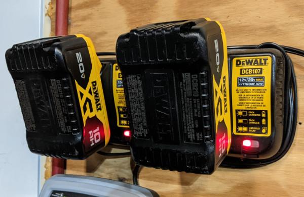 Dewalt 20V Max Mower Batteries and Charger